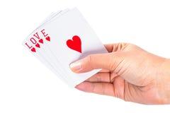 Spielen mit Liebe Lizenzfreies Stockbild