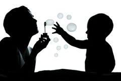 Spielen mit Luftblasen stockbilder
