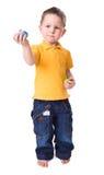 Spielen mit Ostereiern Lizenzfreie Stockfotos
