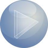 Spielen Sie Audioikone Lizenzfreies Stockbild