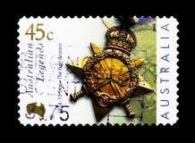 Spielen Sie 1914-15, australische Legenden - das letzte ANZACs-serie, circa die Hauptrolle Lizenzfreies Stockbild