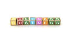 Spielen Sie Block mit Geschäfts-Wort Lizenzfreies Stockbild