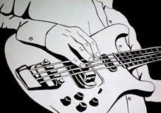 Spielen Sie die Gitarre Kunstillustration stock abbildung