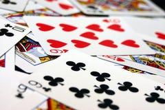 Spielen Sie die Karten Lizenzfreies Stockfoto