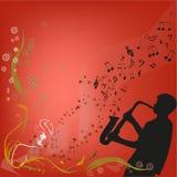 Spielen Sie ein Saxophon Lizenzfreies Stockfoto