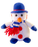 Spielen Sie einen Schneemann stockfoto