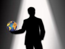 Spielen Sie für einen neuen Job in der Welt vor stock abbildung