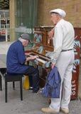 Spielen Sie mich, den ich Ihr bin, Straßen-Klaviere lizenzfreies stockbild