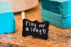 Spielen Sie mich ein Lied Stockbild