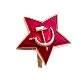 Spielen Sie rote Armee, den sowjetischen Stern, Stern kakarda Sowjettruppen die Hauptrolle Stockbilder