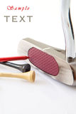 Spielen Sie Schlag Golf Lizenzfreie Stockfotos