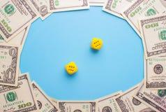 Spielen und Geld Stockbilder