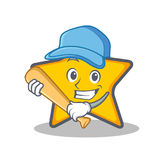 Spielen von Baseball-Star-Charakter-Karikaturart Lizenzfreie Stockfotos