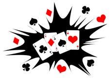 Spielen von cards_03 Stockbild