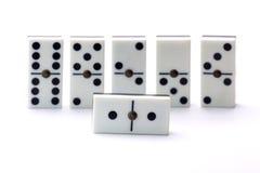 Spielen von Dominos Lizenzfreies Stockbild