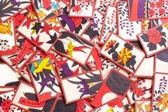 Spielen von Hanafuda Stockbilder