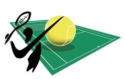 Spielen von Tennis Stockfotos