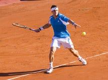 Spielen von Tennis Lizenzfreies Stockfoto