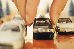 Spielen von Toy Car Stockfoto