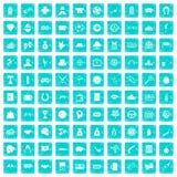 100 spielende Ikonen stellten Schmutz blau ein Stockbild