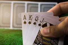 Spielende Karte Stockfotos
