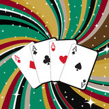 Spielende Karten Lizenzfreie Stockfotografie