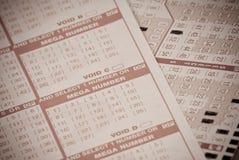 Spielende Lotterie lizenzfreies stockbild