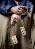 Spielender Mann Stockfoto