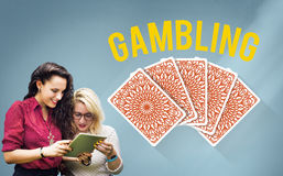 Spielendes Glück-Jackpot-Risiko-Wetten-Konzept stockfotografie