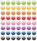 Spieler bottons Stockbild