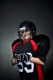 Spieler des amerikanischen Fußballs Stockbild