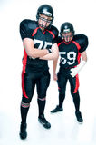 Spieler des amerikanischen Fußballs in der Uniform Stockbild