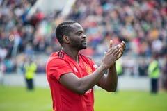 Spieler tun einen Schoss Ehre bei Pairc Ui Chaoimh, für das Liam Miller Tribute-Match stockfotos