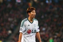 Spieler von Bayer Leverkusen Stockbild