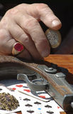 Spielerhand Stockbilder