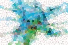Spielerische blaue Formen, abstrakter Hintergrund Lizenzfreie Stockfotografie