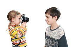 Spielerische Fotositzung Lizenzfreie Stockfotografie