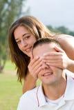 Spielerische jugendlich Paare Stockfotos
