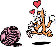 Spielerische Katze Stockfotografie