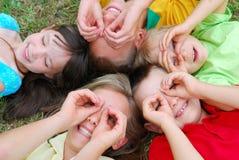 Spielerische Kinder Stockbild