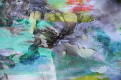 Spielerischer abstrakter Hintergrund und Wachs des Aquarells Lizenzfreie Stockfotos