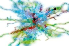 Spielerischer phosphoreszierender abstrakter Hintergrund, Blitzform Lizenzfreie Stockbilder