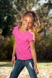 Spielerisches Afroamerikaner-Kind stockfotografie