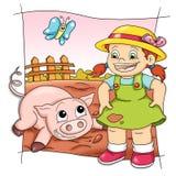 Spielerisches Schwein Stockfoto