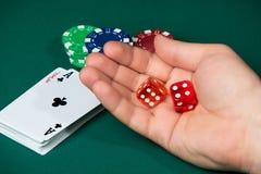 Spielerwürfe würfelt Lizenzfreies Stockfoto