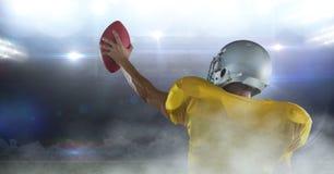 Spielerzujubeln des amerikanischen Fußballs vektor abbildung