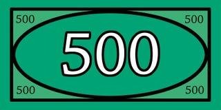 Spielgeld 500 Lizenzfreies Stockbild