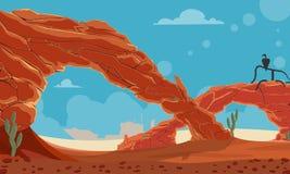 Spielhintergrund der Wüste vektor abbildung