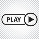 Spielikonenvektor Spielvideoillustration in der flachen Art einfach Stockbilder