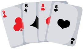 Spielkarte lizenzfreie abbildung